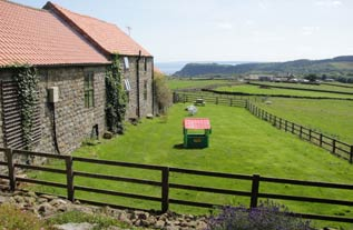 View from back of cottages